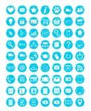 Blue icons Stock Image