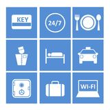 Blue icons for the website Stock Image