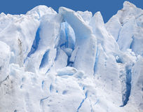 Blue icy background and texture. Glacier Perito Moreno in Argentina Royalty Free Stock Image