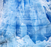 Blue icy background and texture. Glacier Perito Moreno in Argentina Royalty Free Stock Photos