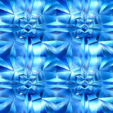 Blue icy cubes Stock Photography