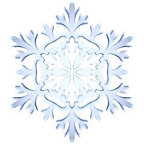 Blue icy decorative snowflake Stock Image