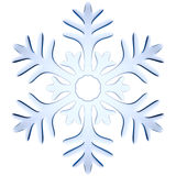 Blue icy decorative snowflake Stock Photos
