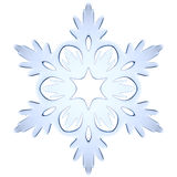 Blue icy decorative snowflake Stock Photo