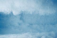 Icy frost background in freezer. Blue icy frost background in freezer Stock Photography