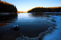 Blue icy lake Royalty Free Stock Photography