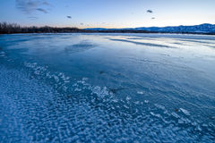 Blue Icy Lake Royalty Free Stock Photo