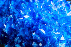 Blue icy salt crystal closeup Royalty Free Stock Images