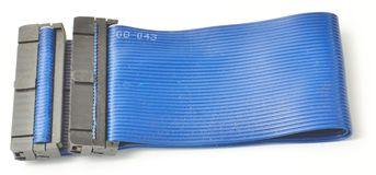 Blue Ide cable from the side Stock Photo