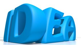 Blue idea Stock Photo
