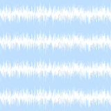 Blue ikat seamless vector pattern. Textile fabric Royalty Free Stock Images