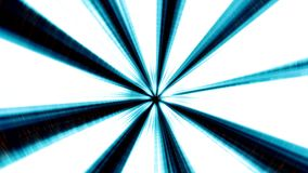 Blue Illuminated 3D Tunnel Motion Background. stock video footage