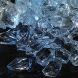 Blue illuminated ice cubes Stock Image