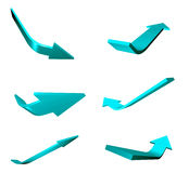 Blue illustrated arrows Royalty Free Stock Images