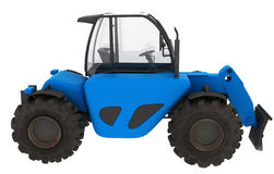 Blue illustrated tractor Stock Photo