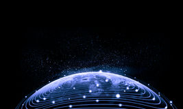 Blue image of globe Royalty Free Stock Photo