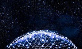 Blue image of globe. Blue vivid image of globe. Globalization concept. Elements of this image are furnished by NASA royalty free stock photos