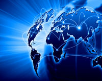 Blue Image Of Globe Stock Images