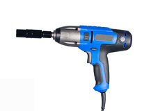 Blue impact gun with socket Royalty Free Stock Photos
