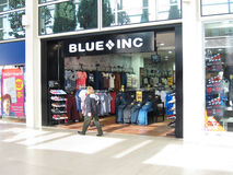Blue Inc store. Blue Inc store front.Blue Inc have over 200 stores across the country. Although traditionally a menswear retailer, Blue Inc has more recently Stock Photo