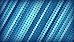 Blue inclined lines 3D render. Blue extruded inclined lines. Geometric 3D render. Computer generated abstract background Stock Photography