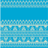 Blue Indian henna pattern banner Stock Photography