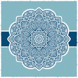 Blue Indian ornamental frame Stock Photography