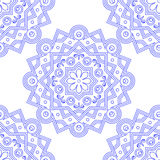 Blue Indian Vintage Ornament. Blue mandala Seamless pattern. Vector illustration . Royalty Free Stock Photo