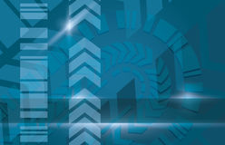 Blue industrial modern vector background Stock Photography
