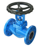 Blue industrial valve royalty free illustration