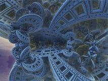 Blue infinite alien fractal. Shapes Stock Photos