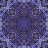 Blue infinite alien fractal shapes. 3D rendering Stock Photos