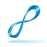 Blue infinity sign Royalty Free Stock Photography