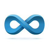 Blue infinity symbol Royalty Free Stock Image