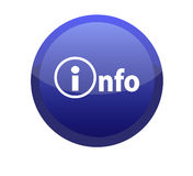 Blue info button Stock Photo