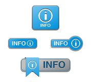 Blue info buttons Royalty Free Stock Photo