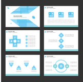 Blue Infographic elements icon presentation template flat design set for advertising marketing brochure flyer Royalty Free Stock Photo