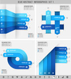 Blue infographics banners 1. A Blue set for abstract overlapping infographics banners Stock Images