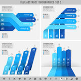 Blue infographics banners 3. A Blue set for abstract overlapping infographics banners Royalty Free Stock Photography