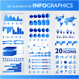 Blue infographics. Universal  Stock Image