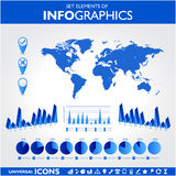 Blue infographics. Universal vector Royalty Free Stock Photography