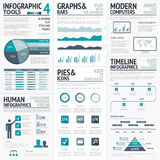 Blue infographics vector elements for business infographs Royalty Free Stock Image