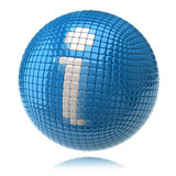 Blue information icon Stock Photography