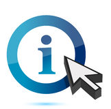 Blue information icon with an arrow Stock Photography