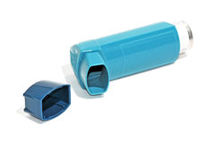 Blue inhaler Royalty Free Stock Images