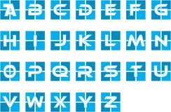 Blue Initial Alphabet Corporate Logo Stock Photography