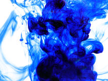 Blue Ink. In water Stock Image
