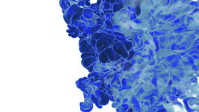 Blue Ink flowing through water in slow motion. Alpha mask is included. Use it for background, transition or overlays. 3d. Motion graphics element VFX ink or stock video