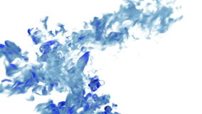 Blue Ink flowing through water in slow motion. Alpha mask is included. Use it for background, transition or overlays. 3d. Motion graphics element VFX ink or stock video footage