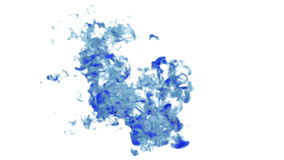 Blue Ink flowing through water in slow motion. Alpha mask is included. Use it for background, transition or overlays. 3d. Motion graphics element VFX ink or stock footage